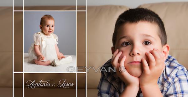 Antonio con su hermano Jesús: Sesión de Bautizo
